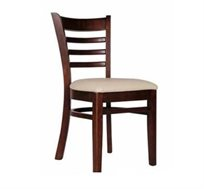 כיסא מטבח דגם אוקספורד עם משענת עץ בעיצוב אלגנטי ומושב מרופד דמוי סקאי משובח