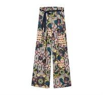 מכנסיים עם מגוון הדפסים לנשים דגם DEBORA - צבעוני