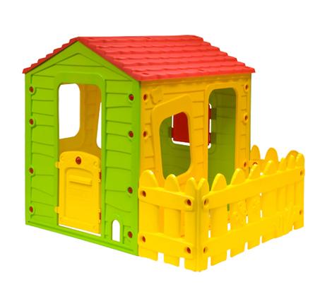 מתקדם משחק ילדים! בית עם חצר לילדים, עשוי פלסטיק איכותי ועמיד בשמש, נוח PZ-89