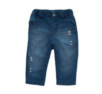 מכנסי ג'ינס לבנים בצבע כחול ווש מיננה