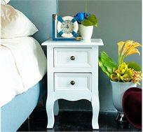 סט 2 שידות לילה מעוצבות נוחות ושימושיות לצידי המיטה בחדר השינה