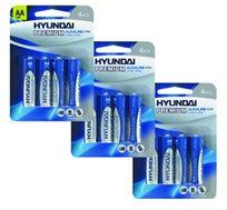 40 סוללות AA אלקליין C4 1.5V LR6 של חברת HYUNDAI