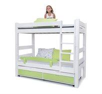מיטת קומותיים דגם טינה עשויה עץ מלא עם ידיות אינטגרליות במגוון צבעים לבחירה HIGHWOOD