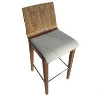 כסא בר מעץ מלא בעיצוב מודרני מינימליסטי דגם שביט