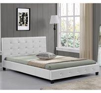 מיטה זוגית מעוצבת בריפוד דמוי עור דגם אורלי HOME DECOR