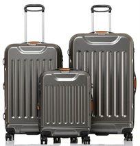 JEEP DUNE סט 3 מזוודות קשיחות אפור מטאלי