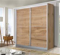 ארון הזזה 2 דלתות דגם אורן