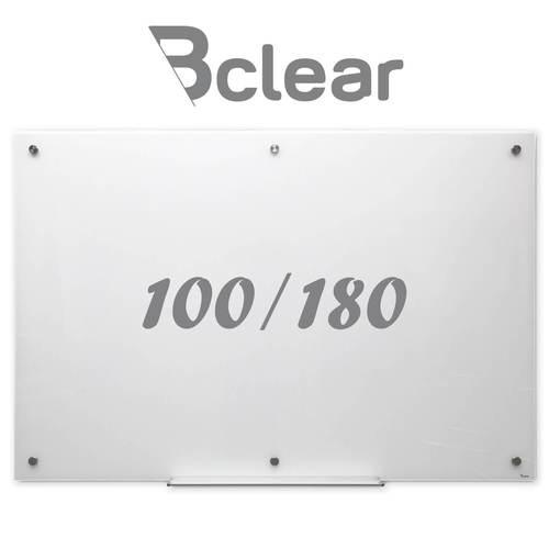 לוח זכוכית מחיק מגנטי 100X180 ס''מ לבן - Bclear