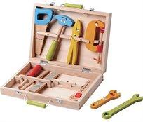 מזוודת כלי עבודה מעץ מלא 10 חלקים