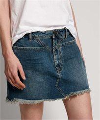 חצאית וואן טיספון כחול לנשים - ONE TEASPOON DIRTY INDIGO TRUCKER