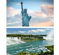 """החלום האמריקאי טיול מאורגן לארה""""ב ל-9 ימים-מפלי הניאגרה, טורונטו, ושינגטון+3 הפלגות רק בכ-$1985*לאדם"""