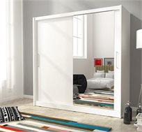 """ארון הזזה 2 דלתות 200 ס""""מ עם מראה דגם מריל HOME DECOR"""