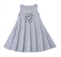 שמלה מסתובבת בלי שרוולים לב וקרני אור בצבע מלאנז'