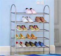 מעמד לאחסון נעליים עשוי מתכת הכולל 5 מדפים