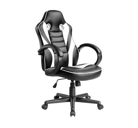 כיסא גיימר הורייזון  HUNTER לבן