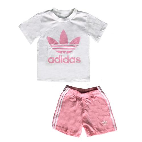 חליפת Adidas ילדים (מידות 3 חודשים-4 שנים) ורוד