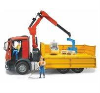 משאית מרצדס פתוחה + זרוע הידראולית