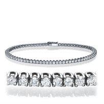 צמיד טניס משובץ יהלומים במשקל 1.01 קראט באיכות F/Vs2