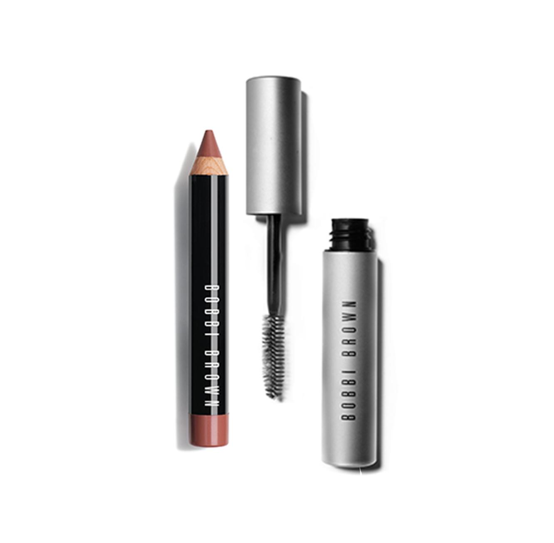 ליפסטיק עפרון לשפתיים הצבעים לבחירה + מסקרה מעושנת BOBBI BROWN