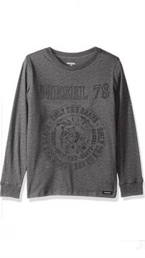 DIESEL / חולצה (16-4 שנים) - אפור כהה