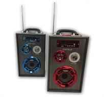 בידורית Bluetooth דגם V-340 ניידת ונטענת עד 12 שעות עבודה, כולל  מיקרופון ושלט רחוק