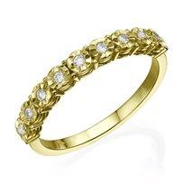 טבעת יהלומים 0.09 קראט זהב צהוב