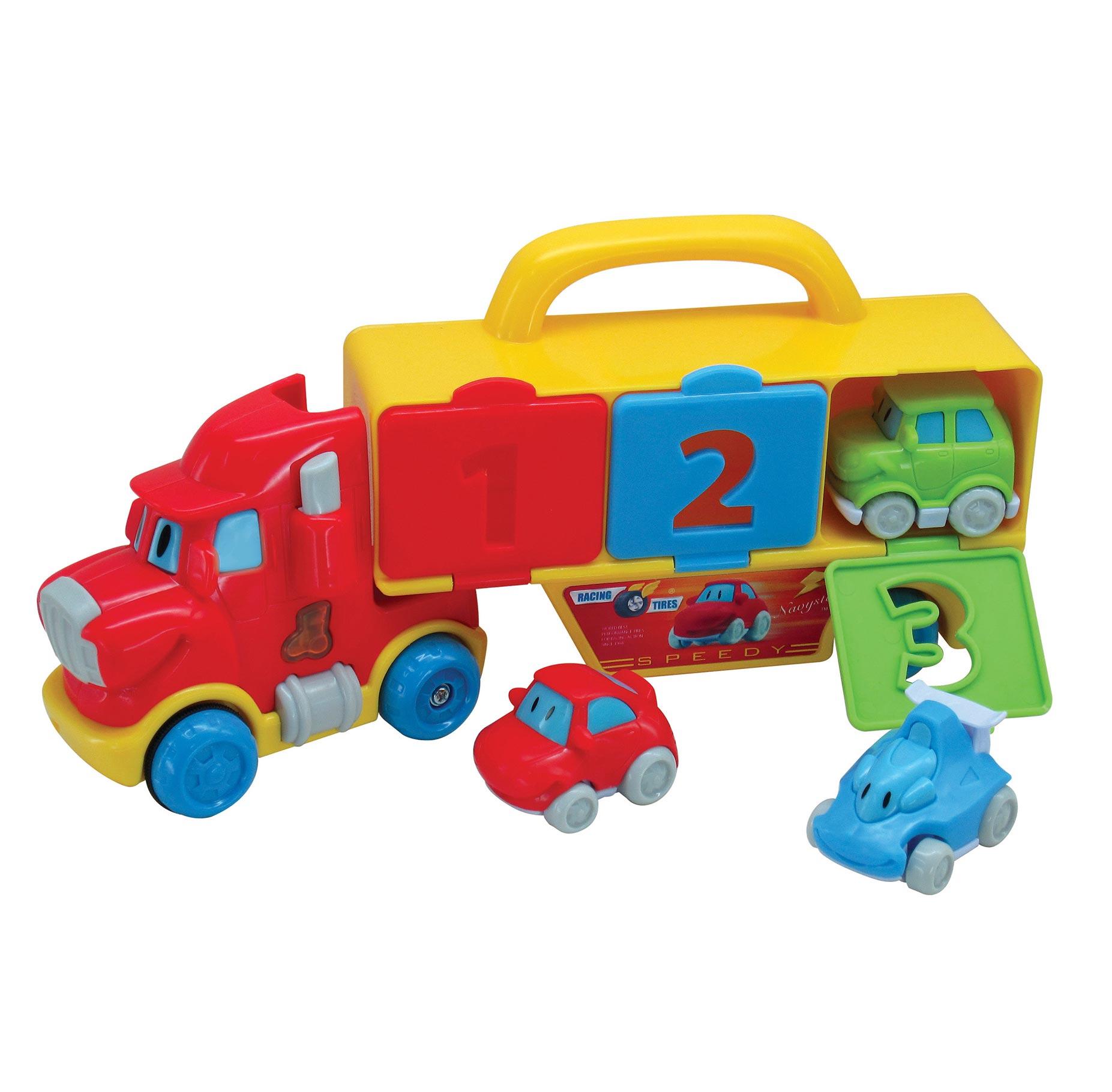משחק לגיל הרך - וילי המוביל שלוש מכוניות