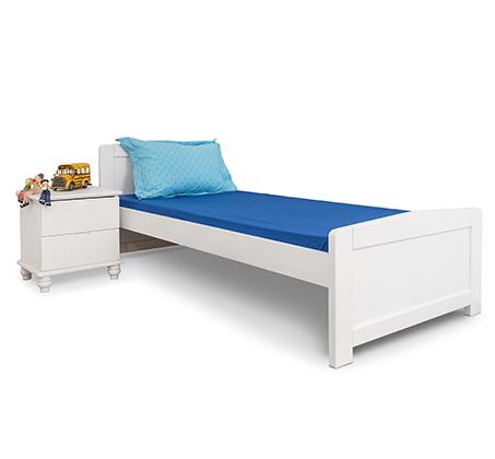 מיטה בגודל יחיד עשויה עץ מלא לחדרי נוער וילדים בצבעים לבחירה HIGHWOOD - תמונה 2