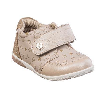 נעלי צעד ראשון לבנות דגם תומר נקודות - גוף