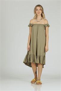 שמלה טריפונס  ירוק