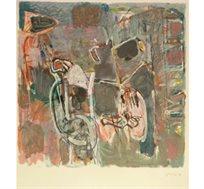 """""""אופניים"""" - ציורו של סטימצקי אביגדור, הדפס בחתימה אישית בגודל 82X70 ס""""מ"""