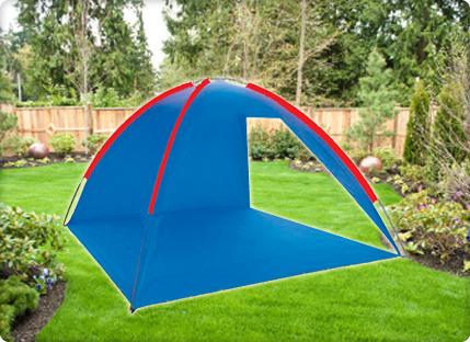 כחול על שפת הים! אוהל ים משפחתי ענק, פתוח ,מסנן קרינה וקל משקל. קלאסי לחוף ולקמפינג, רק ₪59! - תמונה 2
