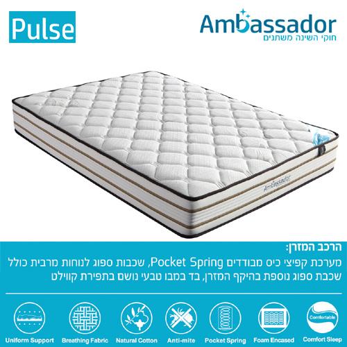 מיטה זוגית מעוצבת מרופדת בבד רך ונעים עם בסיס עץ מלא דגם דרבי HOME DECOR - תמונה 3