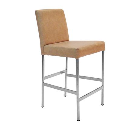 כסא בר גבוה למטבח בריפוד סקאי דגם אודי במבחר גוונים לבחירה