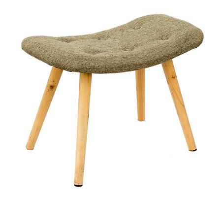 כיסא שרפרף מלבני מעוצב עם רגליים בגוון עץ טבעי ומושב מרופד U DESIGN - תמונה 2