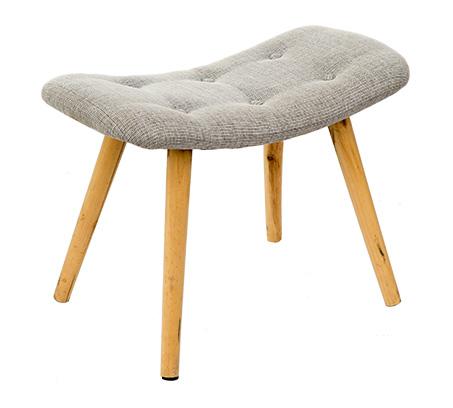 כיסא שרפרף מלבני מעוצב עם רגליים בגוון עץ טבעי ומושב מרופד U DESIGN - תמונה 3