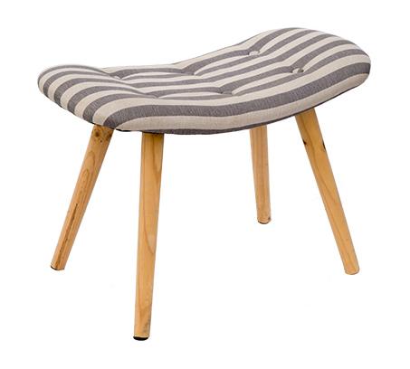 כיסא שרפרף מלבני מעוצב עם רגליים בגוון עץ טבעי ומושב מרופד U DESIGN - תמונה 4
