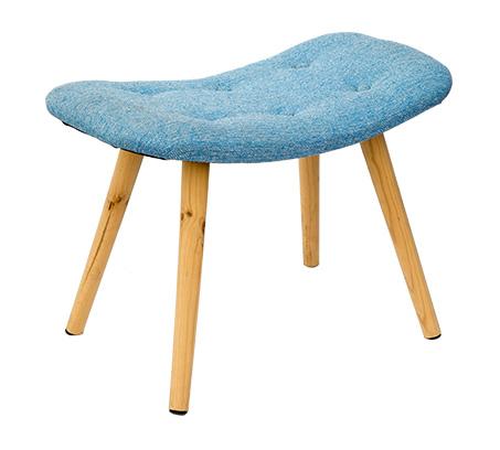 כיסא שרפרף מלבני מעוצב עם רגליים בגוון עץ טבעי ומושב מרופד U DESIGN - תמונה 6
