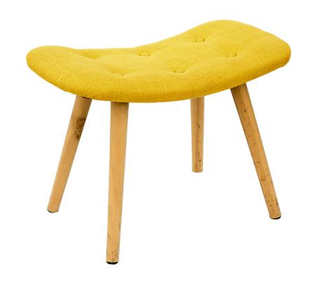 כיסא שרפרף מלבני מעוצב עם רגליים בגוון עץ טבעי ומושב מרופד U DESIGN - תמונה 5