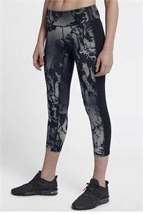טייץ 7/8 מודפס לנשים Nike בצבע שחור/אפור