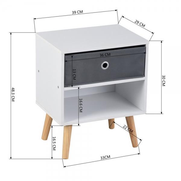 שידת שתי קומות מסדרת וינדה בעיצוב נקי וסולידי כוללת מגירת אחסון שימושית HOMAX - תמונה 4