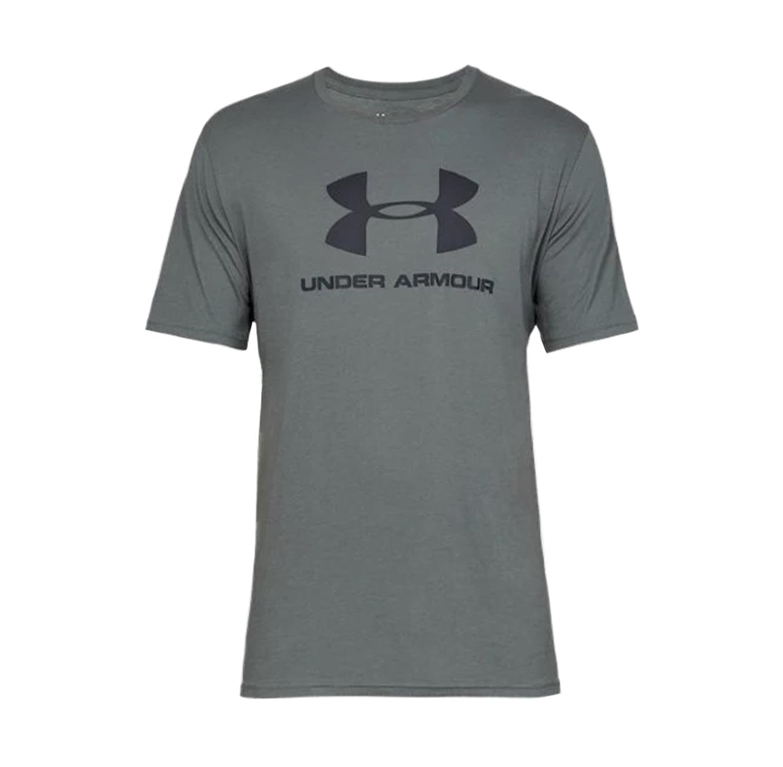חולצת טישרט לגברים Under Armour SS19 SPORTSTYLE LOGO SS - אפור