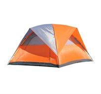 אוהל ל-6 אנשים הכולל 2 חלונות וכיסוי פוליאסטר להצללה - משלוח חינם