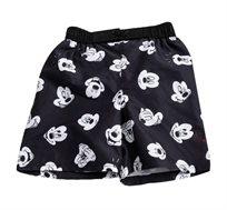 מכנסי גלישה מיקי מאוס לילדים בצבע שחור