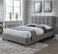 מיטת זוגית 140X190 בריפוד בד עם בסיס עץ מלא דגם טנגו HOME DECOR