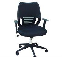 כסא מזכירה בריפוד PU שחור לבית ולמשרד