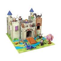 קרבות אבירים! בית בובות 'טירת האבירים הגדולה' בעיצוב מרהיב עשיר בצבע ובפרטים + סט אביזרים