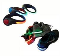 שומר עליכם! קליפ LED המתחבר לעקב של הנעל או רצועת יד זוהרת לרכיבה על אופניים, הליכה, ספורט וג'וגינג
