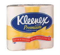 3 חבילות נייר טואלט Kleenex קלינקס תשיעייה בצבע צהוב