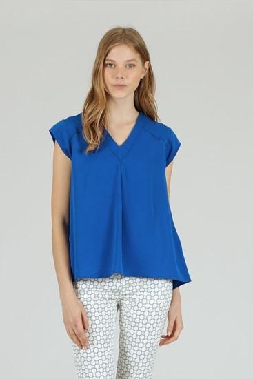 חולצה רומיני כחול